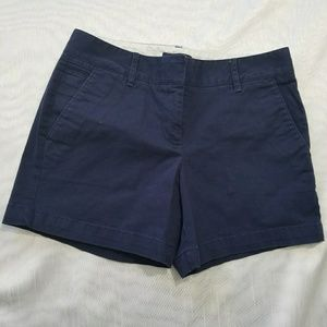 Lands End - Women's Low Rise Chino Navy Shorts